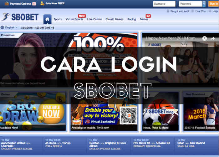 cara melakukan login di situs agen resmi judi online sbobet